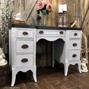 antique, vintage furniture, painted desk, nyc, just the woods, shabby chic