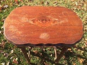 antique-table, damaged wood, vintage, furniture,
