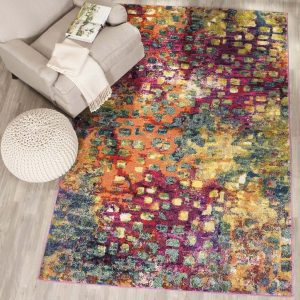 colorful-area-rug, abstract area rug, modern rug, affordable rug