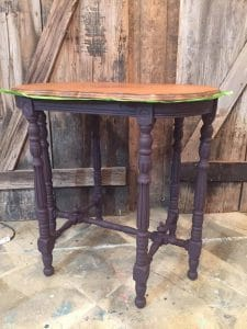 custom-mixed-eggplant, purple chalk paint, vintage furniture
