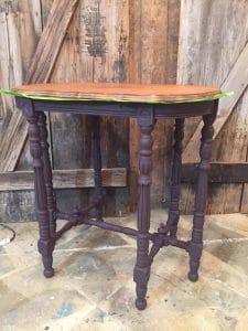 custom-mixed-eggplant, purple chalk paint, vintage furniture