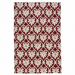 geometric-red-area-rug, traditional area rug, bold rug