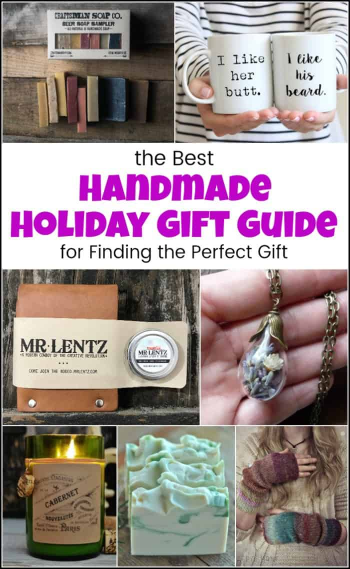 A handmade holiday gift guide to help you start or even finish your holiday shopping. Find the perfect present for friends and family. These holiday gift ideas will help you find what you're looking for. #holidaygiftguide #holidaygiftideas #christmasgiftguide #bestgiftideas #handmadegiftideas #etsygiftguide #holidaygiftideas #giftguide #giftideas