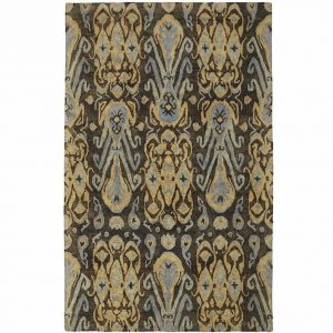 ikat area rug, and hooked rug, affordable area rug, just the woods