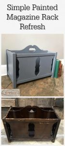 magazine rack, vintage furniture, painted furniture, staten island, chalk paint