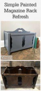 magazine rack, vintage furniture, painted furniture, staten island, chalk paint