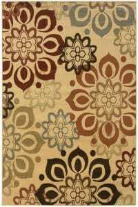 neutral area rug, sand area rug, affordable rug, floral rug