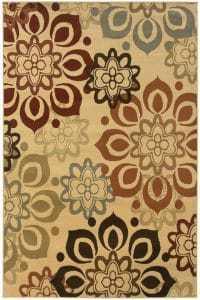 neutral area rug, sand area rug, affordable rug, floral rug