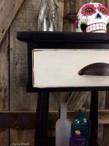 black and white furniture, vintage furniture, distressed furniture, chalk paint, black and white room decor