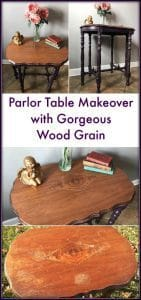 Parlor Table Makeover by Just the Woods