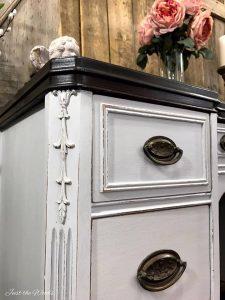 raised details, distressed details, distressed furniture, painted furniture, chalk paint
