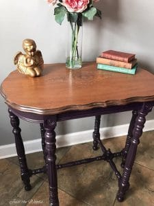 Eggplant Painted Parlor Table