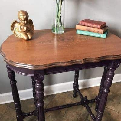 Antique Parlor Table – an Eggplant Makeover
