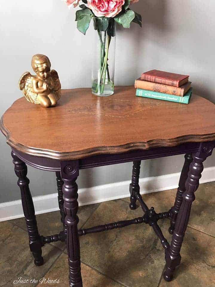 ... Eggplant Painted Parlor Table