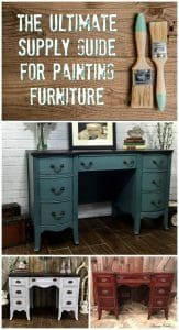 painting furniture, how to, supplies,