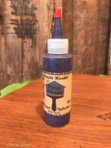 vibrant-splatter, gel stain, vibrant splatter, purple, wood stain