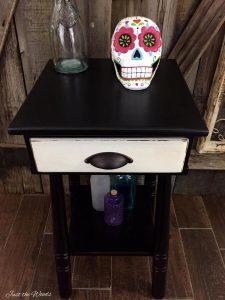 wood table, wood furniture, vintage, painted