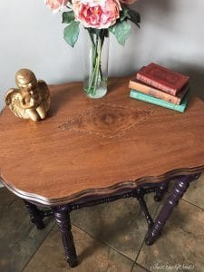 Antique Parlor Table Painted Custom Mixed Eggplant