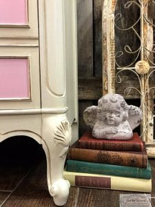 antique-details-on-feet, painted french provincial furniture, pink chalk paint