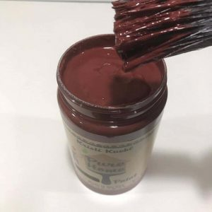 cranberry bliss, chalk paint, kristi kuehl, pure home paint, non toxic,