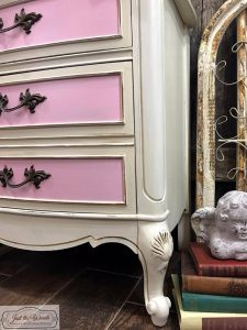 curvy-french-provinicial-nighstand, curvy furniture, shabby chic, chalk paint, non toxic, kids furniture, nj