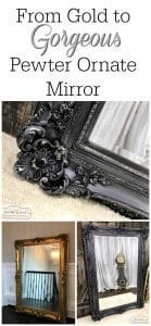 gold-to-gorgeous, metallic pewter mirror, ornate mirror
