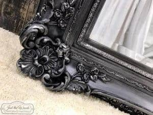 gorgeous-ornate-pewter-mirror, pewter mirror, ornate vintage mirror, nyc