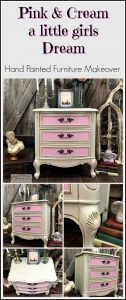 little-girls-dream, pink and cream, painted furniture, girls furniture