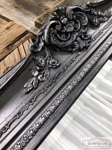metallic-pewter-mirror, metallic chalk paint, pewter paint