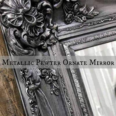 Elegant Ornate Mirror Makeover from Gold to Pewter