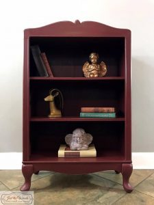 painted bookcase, cranberry bliss, chalk paint, shabby, staten island, nyc, nj, just the woods
