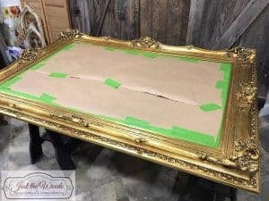 paper-protected, painted mirror, gold mirror, roccoco