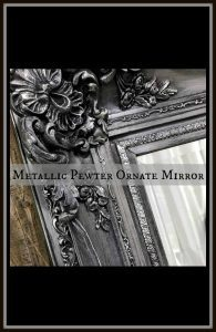 pewter-mirror-pin, painted mirror, pewter chalk paint