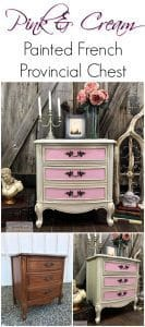 pink-and-cream-french-provincial, painted furniture,