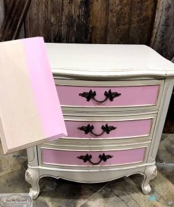 sample-board, pink and off white, antiqued, glazed, pink and cream, chalk paint, staten island