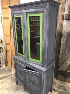 sanded-smooth-after-paint, distress, chalk paint, painted china cabinet, staten island, ny, nj, shabby chic