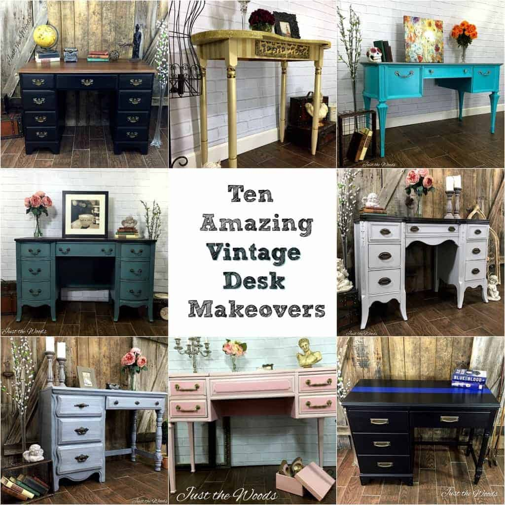 Ten Amazing Vintage Desk Makeovers