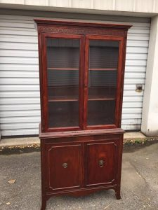 vintage-china-cabinet, antique furniture, unfinished china cabinet, staten island, ny, nj