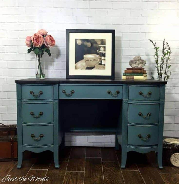 Desk Rescue Painted Jazzy Memphis Blue