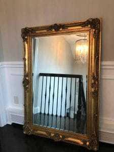 vintage-gold-mirror, ornate mirror, vintage mirror, detailed mirror, staten island
