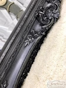 vintage-mirror-painted-pewter, pewter mirror, staten island, ornate mirror