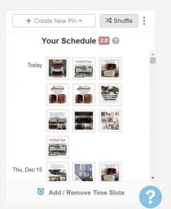 your-schedule-shuffle, shuffle pins, tailwind, tutorial, pins schedule