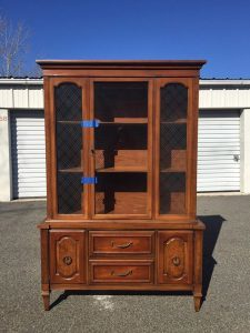 China Cabinet Vintage Unfinished New York Staten