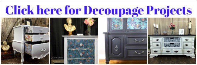 decoupage projects, painted furniture, decoupage furniture