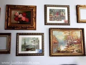 french-prints-gallery-wall, vintage style gallery wall