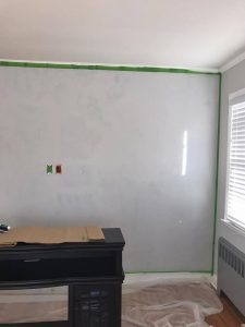 frog-taped-wall, wall prep for lime paint, pure and original