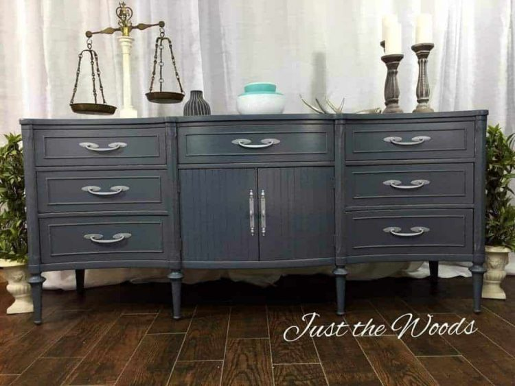 gray-painted-buffet, chalk paint, charcoal gray paint, graphite, chalk paint buffet, painted furniture, nyc, staten island