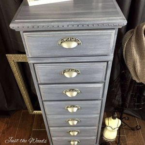 gray-painted-lingerie-chest, painted lingerie chest, painted furniture, staten island, nyc, lingerie chest