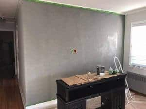 lime-paint-wall, wall prim, tin kettle, pure and original, cloudy wall, accent wall, staten island, just the woods