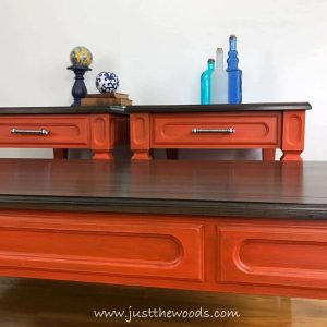 mersman-wood-painted-tables, painted tables, orange painted tables, new york, staten island